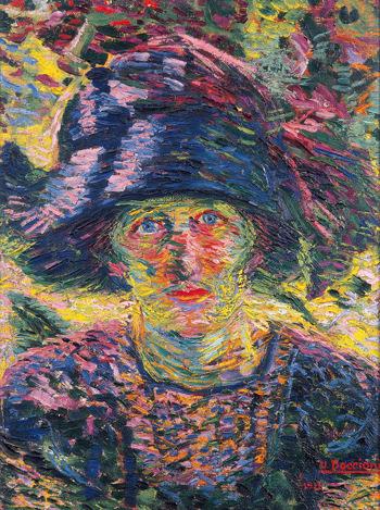 Ritratto Femminile 1911 - Umberto Boccioni reproduction oil painting