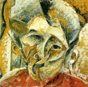 Dynamism of a Womans Head - Umberto Boccioni reproduction oil painting