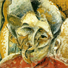 Dynamism of a Womans Head - Umberto Boccioni