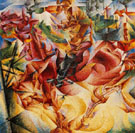 Elasticity 1912 - Umberto Boccioni reproduction oil painting