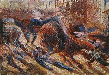 Study for the City Rises 1910 - Umberto Boccioni reproduction oil painting