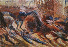 Study for the City Rises 1910 - Umberto Boccioni