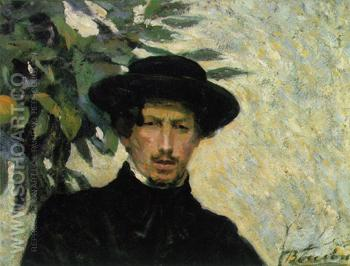 Self Portrait B - Umberto Boccioni reproduction oil painting