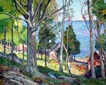 Through the Trees - George Gardner Symons reproduction oil painting