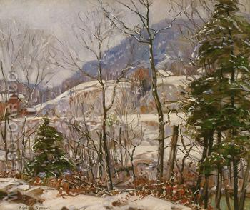 Winter in the Country - George Gardner Symons reproduction oil painting