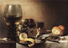 Natura Morta Con Ostriche 1633 - Pieter Claesz