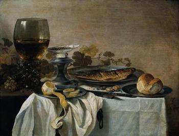 Stilleben Mit Fisch 1647 - Pieter Claesz reproduction oil painting