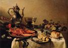 Stilleben Mit Silberkanne und Hummer 1641 - Pieter Claesz