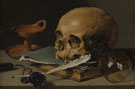 Still Life with a Skull and Writing Quill 1628 - Pieter Claesz