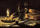 Still Life with Burning Candle - Pieter Claesz reproduction oil painting