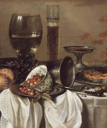 Still Life with Drinking Vessels - Pieter Claesz reproduction oil painting