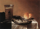 Still Life with Herring 1636 - Pieter Claesz reproduction oil painting