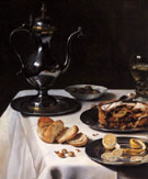 Still Life with Turkey 1627 A - Pieter Claesz reproduction oil painting