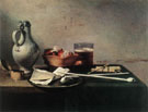 Tobacco Pipes and a Brazier 1636 - Pieter Claesz