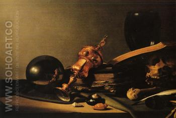 Werkstatt 1634 - Pieter Claesz reproduction oil painting