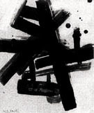 Untitled No 9 - Franz Kline reproduction oil painting