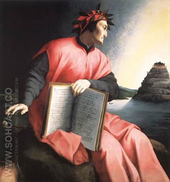 Allegorical Portrait of Dante - Agnolo Bronzino reproduction oil painting