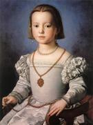 Bia the Illegitimate Daughter of Cosimo de Medici - Agnolo Bronzino reproduction oil painting