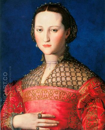 Eleonora di Toledo 1543 - Agnolo Bronzino reproduction oil painting