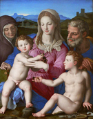Holy Family - Agnolo Bronzino reproduction oil painting
