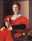Lady with Puppy 1532 - Agnolo Bronzino