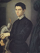 Portrait of Sculptor - Agnolo Bronzino