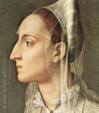 Portrait of Laura Battiferri 1560 - Agnolo Bronzino reproduction oil painting