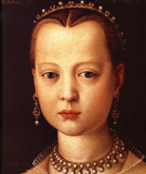Portrait of Maria de Medici - Agnolo Bronzino reproduction oil painting