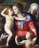 The Madonna and Child with Saint John the Baptist and Saint Anne - Agnolo Bronzino
