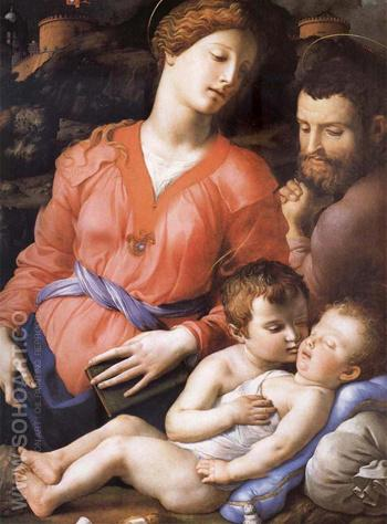 The Sacred Family Second Half of the Century - Agnolo Bronzino reproduction oil painting