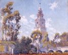 Balboa Park California Tower from Alcazar Garden 1923 - Alson Skinner Clark