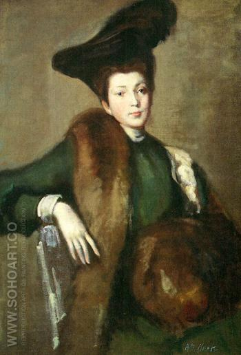 Portrait of the Woman Medora - Alson Skinner Clark reproduction oil painting