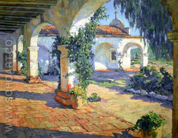 Mission San Juan Capistrano 1921 - Alson Skinner Clark reproduction oil painting