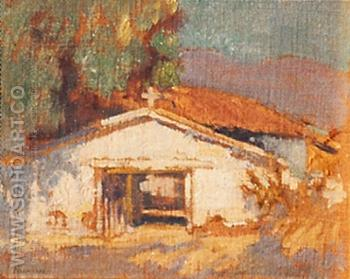 Old Pala Mission - Alson Skinner Clark reproduction oil painting