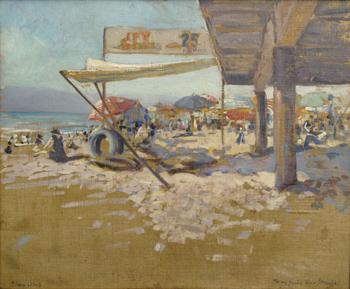 Santa Monica Summer - Alson Skinner Clark reproduction oil painting
