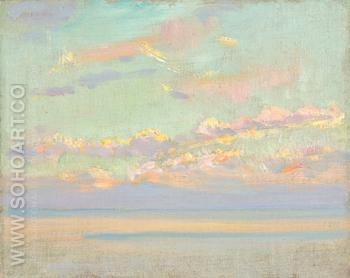 Sky and Sea California 1925 - Alson Skinner Clark reproduction oil painting