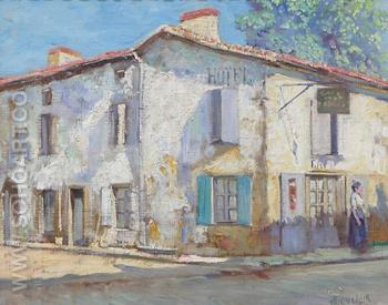 Street in La Roche France 1914 - Alson Skinner Clark reproduction oil painting