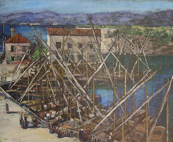 The Harbor at Zara - Alson Skinner Clark reproduction oil painting