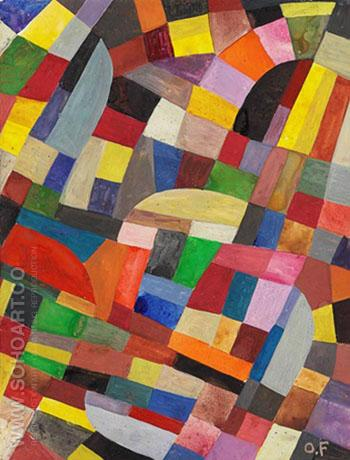 Composition B 1930 - Otto Freundlich reproduction oil painting