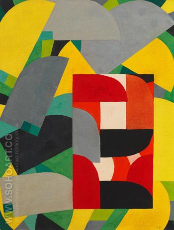 Composition D 1938 - Otto Freundlich reproduction oil painting