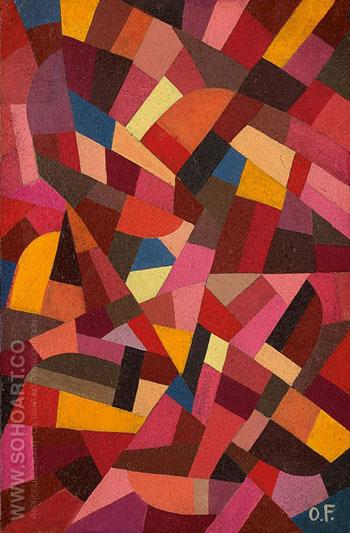 Composition E 1940 - Otto Freundlich reproduction oil painting