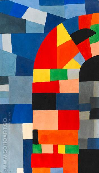 Geometric Composition 1938 - Otto Freundlich reproduction oil painting