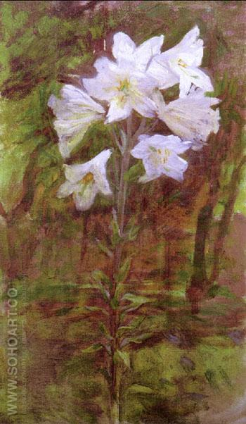 Lilies 1890 - Ellen Day Hale reproduction oil painting