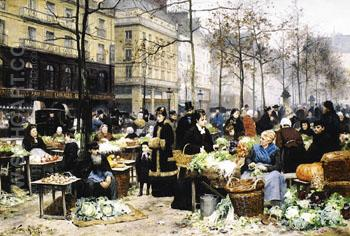 Market Day - Ellen Day Hale reproduction oil painting