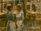 Amsterdames Dienstmeisjes 1900 - Isaac Israels reproduction oil painting