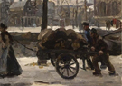 A View of The Prinsengracht near Noordermarkt Amsterdam - Isaac Israels reproduction oil painting