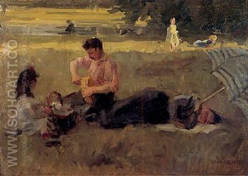 Bois de Boulonge - Isaac Israels reproduction oil painting