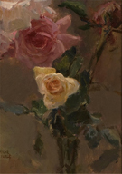 Pink Roses - Isaac Israels reproduction oil painting