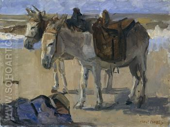 Two Donkeys 1897 - Isaac Israels reproduction oil painting