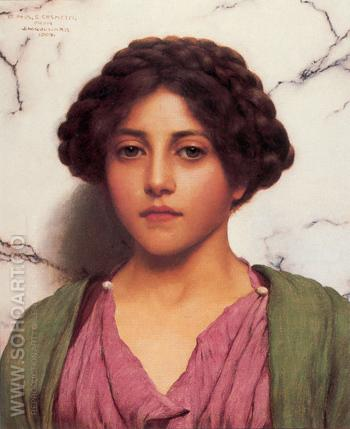 A Classical Beauty A - John William Godward reproduction oil painting